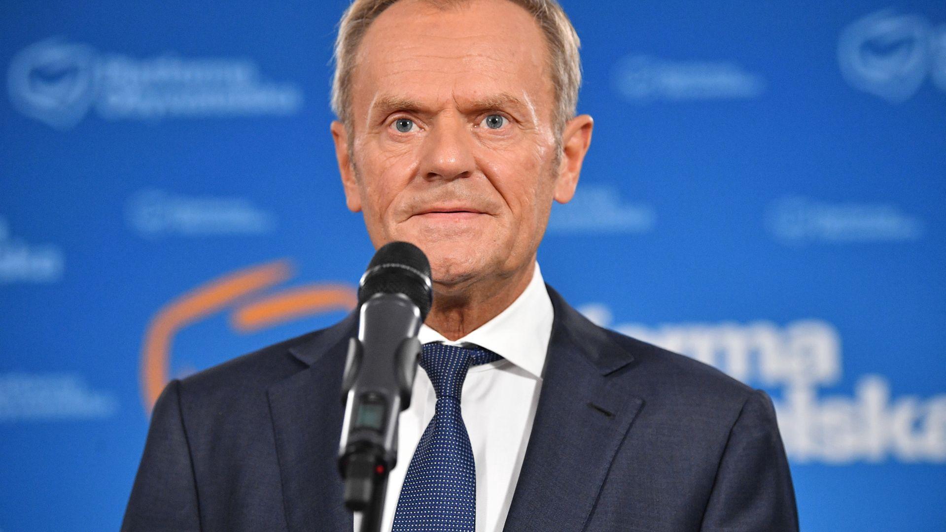 Donald Tusk, lipiec 2021 roku
