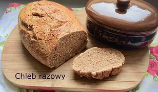 Pyszny chleb razowy. Bez zakwasu i drożdży