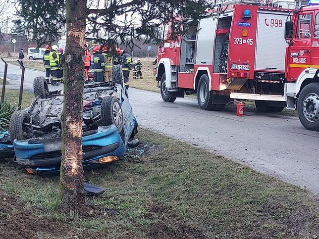 Groźny wypadek w Małopolsce (Małopolska policja)