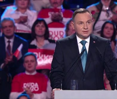 """Wybory prezydenckie 2020.  Andrzej Duda: """"Moi kochani, przecież wszyscy śpiewamy: jeszcze Polska nie zginęła, kiedy my żyjemy"""""""