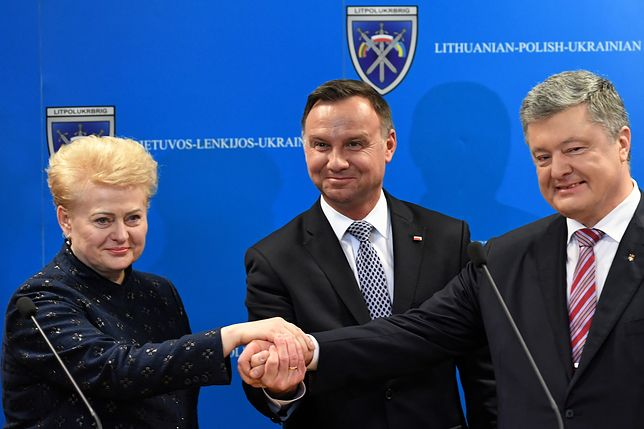 Dalia Grybauskaite, Andrzej Duda i Petro Poroszenko spotkali się w Lublinie