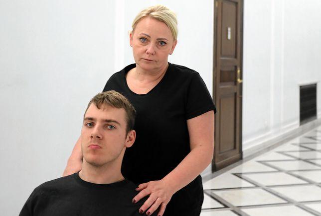 Iwona Hartwich i jej syn Jakub