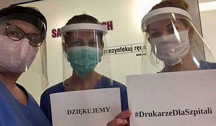 """Przyłbica wydrukowana w ramach akcji """"Drukarze dla szpitali"""""""