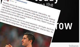 Poruszający wpis Roberta Lewandowskiego po przegranej z Portugalią