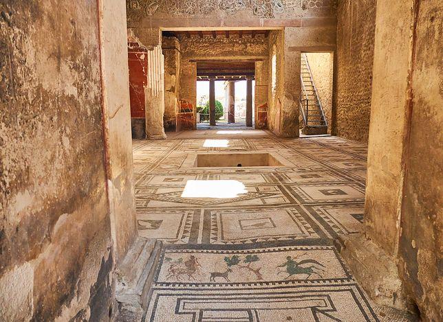 Mozaika przy wejściu do zabytkowej budowli