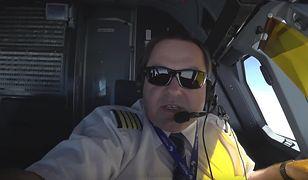 Pan Dariusz opowiada o pracy pilota w bardzo przystępny sposób