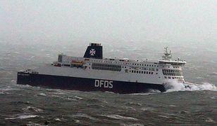 Statek w okolicy portu Dover