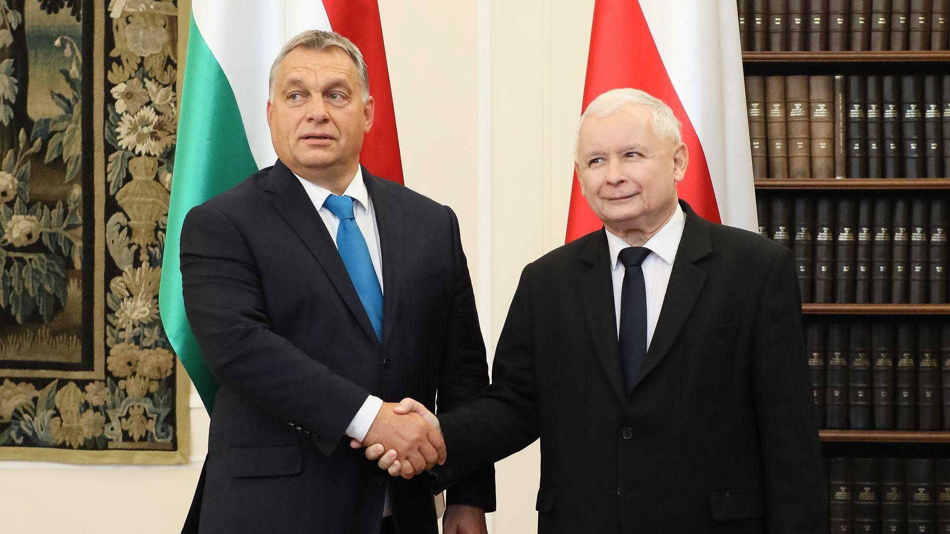 Victor Orbán i Jarosław Kaczyński / fot. Paweł Supernak