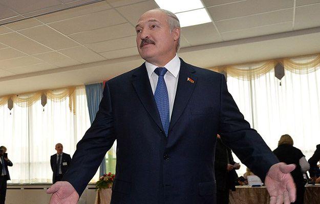 Aleksander Łukaszenka po głosowaniu w wyborach