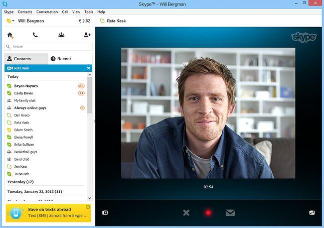 Dawny klient w wersji klasycznej (fot. Skype)