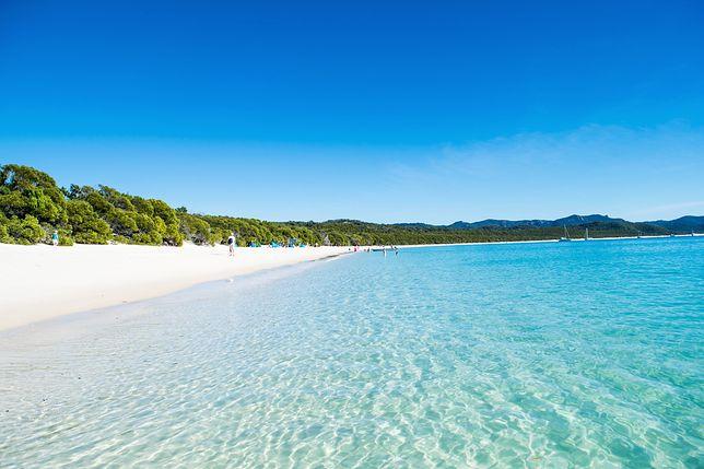 Plaża Whitehaven Beach w Australii