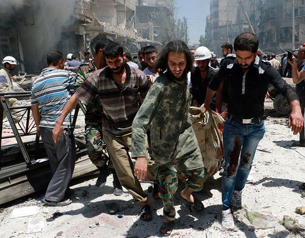27 zabitych wskutek użycia bomb beczkowych w Syrii