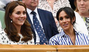 Kate Middleton i Meghan Markle oglądają turniej na Wimbledonie