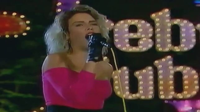 Kim Wild podczas występu na Festiwalu w Sopocie w 1988 roku