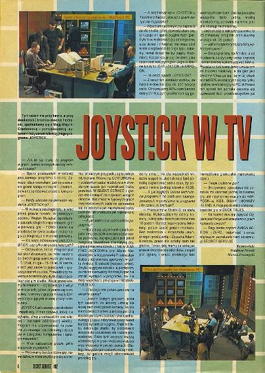 """Wywiad z Mają Wójcik-Czarkowską - pomysłodawcą programu o grach Joystick - tekst z drugiego numeru magazynu """"Secret Service"""" (1993 rok)"""