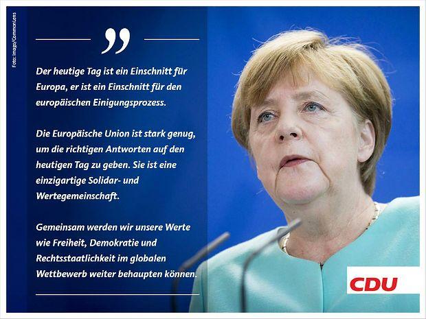Angela Merkel o Brexicie i przyszłości Unii Europejskiej