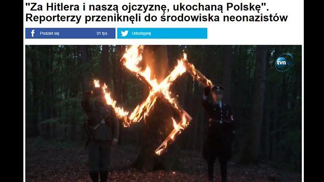 Polscy neonaziści świętują rocznicę urodzin Adolfa Hitlera