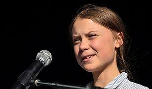 Greta Thunberg w trakcie jednego z wystąpień