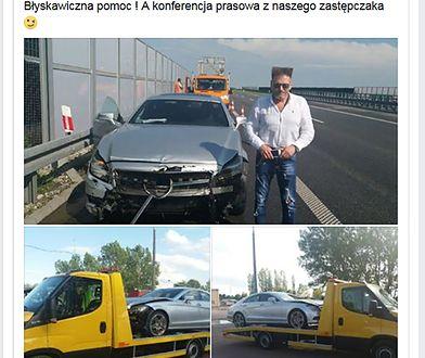 Krzysztof Rutkowski miał wypadek w drodze do Bydgoszczy