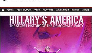 Hillary Clinton była częstym przedmiotem ataku fikcyjnego portalu