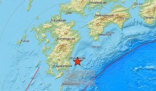 Silne trzęsienie ziemi na wyspie Kiusiu