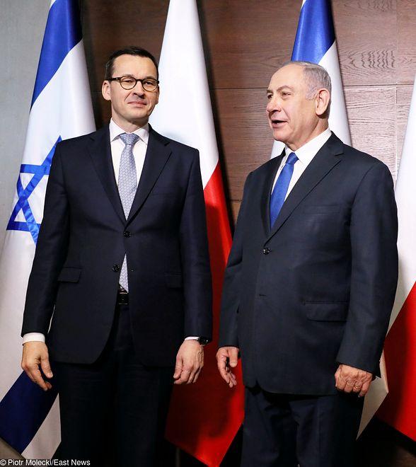 Mateusz Morawiecki i Benjamin Netanjahu