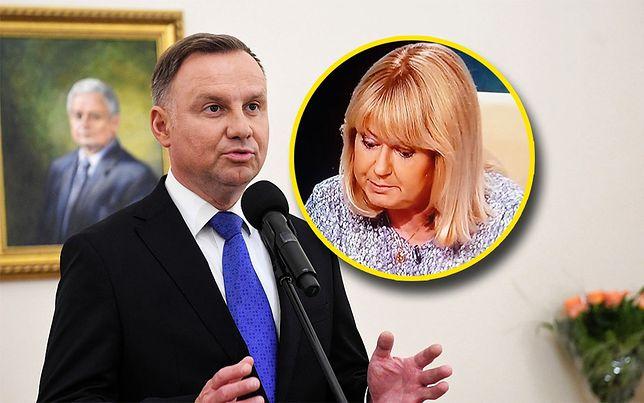 """Andrzej Duda mówi o """"kalumniach stacji TVN24"""". Małgorzata Łaszcz odpowiada"""