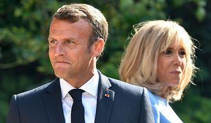 Emmanuel Macron (prezydent Francji) z żoną Brigitte