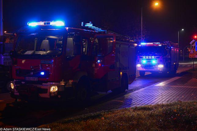 Krosno: Pożar trzech autobusów w zajezdni