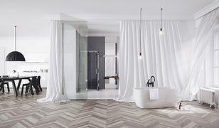 Łazienka w stylu glamour - pomysły na aranżację