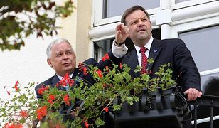 Prezydent RP Lech Kaczyński i minister Mariusz Handzlik (Sopot 2009 r.)