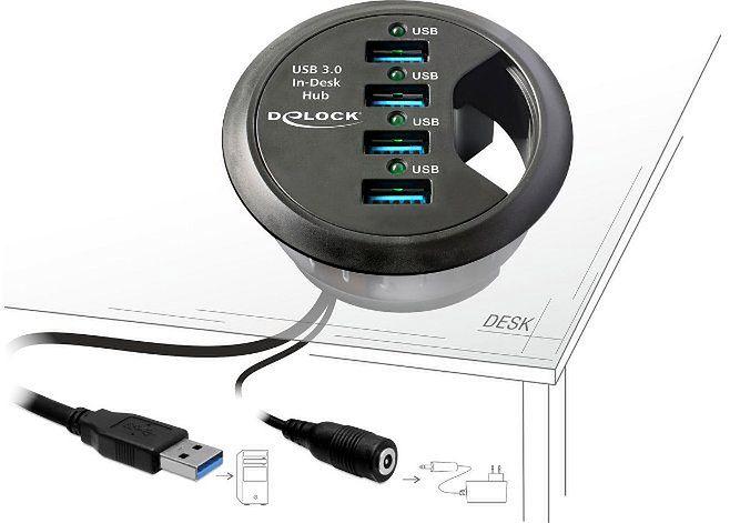 Zwiększ ilość portów USB w... biurku