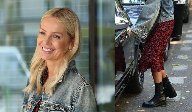 Botki na jesień. Agnieszka Woźniak-Starak postawiła na masywny model w rockowym stylu