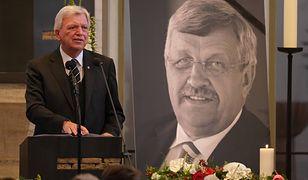Podczas pogrzebu Luebckego przemawiał premier Hesji Volker Bouffier