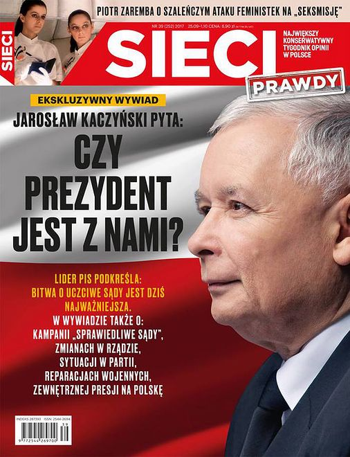 """Prezes Prawa i Sprawiedliwości Jarosław Kaczyński udzielił wywiadu tygodnikowi """"Sieci Prawdy"""""""