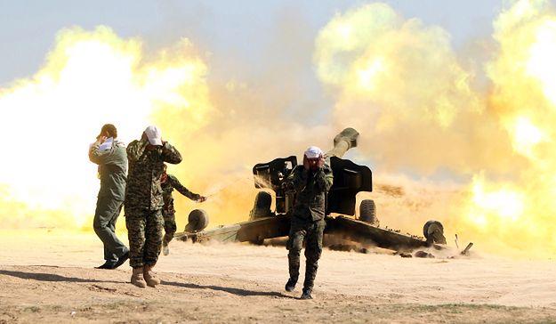 Szyiccy ochotnicy walczący z PI w pobliżu Tikritu