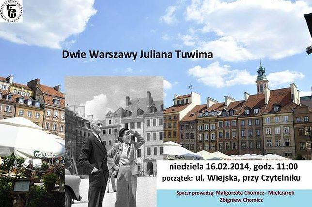 Spacer: Dwie Warszawy Juliana Tuwima