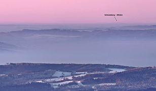 Alpy widoczne z Polski. To nie fotomontaż