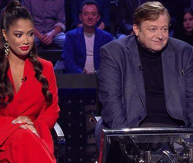 """Patricia Kazadi i Olaf Lubaszenko w programie """"Milionerzy"""""""
