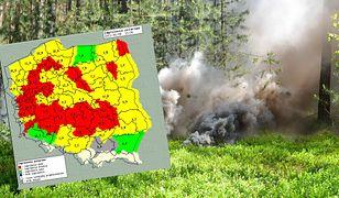 Pogoda może być niebezpieczna. Służby o zagrożeniu pożarowym w lasach