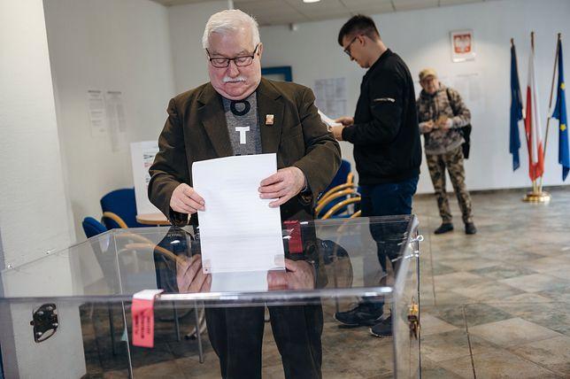 Wybory parlamentarne 2019. Lech Wałęsa głosował w Gdańsku