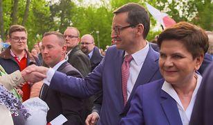 Mateusz Morawiecki i Beata Szydło w spocie PiS-u przed wyborami europarlamentarnymi