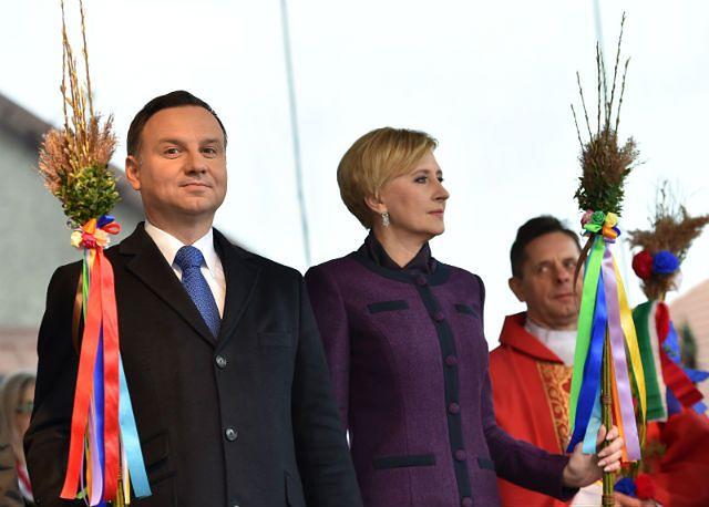 Niedziela Palmowa pary prezydenckiej w Lipnicy Murowanej