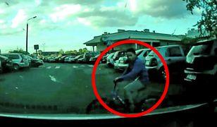 Młody rowerzysta wjechał wprost pod nadjeżdżający samochód