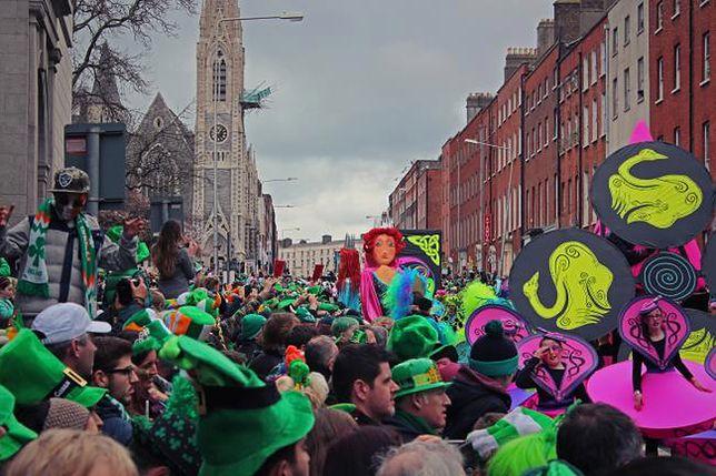 Dublin, Irlandia - Dzień Świętego Patryka