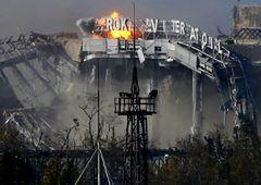 Konflikt na Ukrainie - zniszczone lotnisko w Doniecku