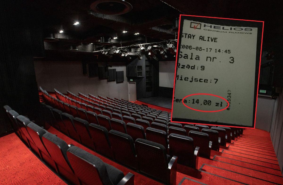 Bilet do kina sprzed 14 lat. Cena robi wrażenie