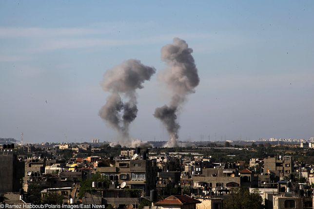 Strefa Gazy. Izrael zaatakował bazę Hamasu