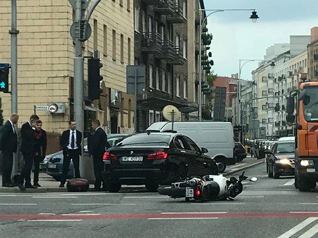 Wypadek na rogu ul. Dobrej i Zajęczej