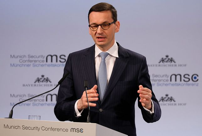 """Morawiecki mówił w Monachium o """"żydowskich sprawcach"""""""